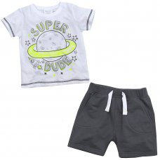 15C348: Infant Boys Space T-Shirt & Short Set (2-6 Years)