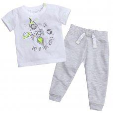 15C349: Baby Boys Space T-Shirt & Jogpant Set (NB-24 Months)