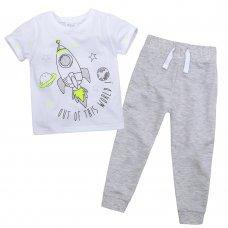 15C350: Infant Boys Space T-Shirt & Jog Pant Set (2-6 Years)