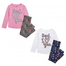 "15C477: Infant Girls ""Bed I Love You"" Pyjama (4-7 Years)"