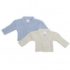 16C534: Baby Cable Knit Cardigan (NB-6 Months)