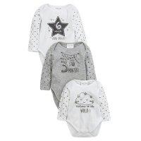 17C236: Babies Gift 3 Pack Bodysuits (Milestones)