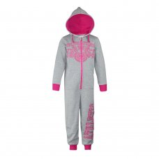 18C144: Infant Girls Brush Back Fleece Onesie (2-6 Years)