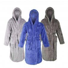 18C159: Infant Kids Plain Snuggle Fleece Dressing Gown (2-6 Years)
