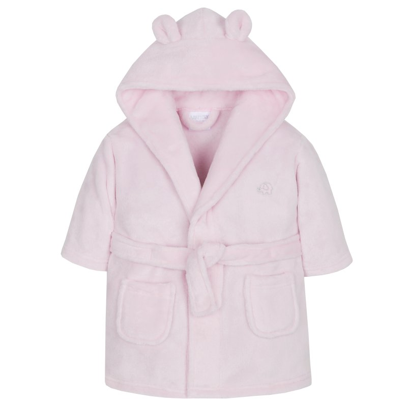 18C203: Baby Pink Hooded Dressing Gown (6-24 Months)