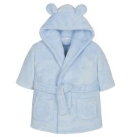 18C20506: Baby Blue Hooded Dressing Gown (0-6 Months)