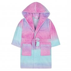 18C424: Infant Girls Rainbow Ombre Dressing Gown (2-6 Years)