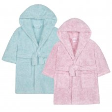 18C438: Infant Girls 2 Tone Snuggle Fleece Dressing Gown (2-6 Years)