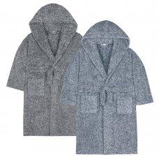 18C440: Older Boys 2 Tone Snuggle Fleece Dressing Gown (7-13 Years)