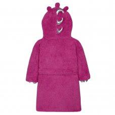 18C469: Infant Girls Novelty Monster Dressing Gown (2-6 Years)