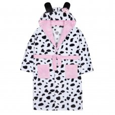 18C472: Older Girls Novelty Dalmatian Dressing Gown (7-13 Years)