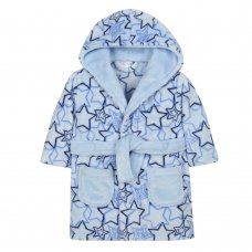 18C475: Baby Boys AOP Shooting Stars Dressing Gown (6-24 Months)