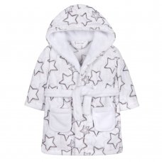 18C476: Baby Unisex AOP Shooting Stars Dressing Gown (6-24 Months)