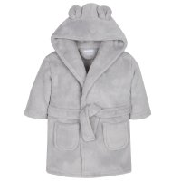 18C509: Baby Silver Grey Hooded Dressing Gown (6-24 Months)
