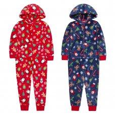 18C581: Kids Christmas All Over Print Onesie (7-13 Years)