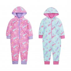18C585: Infant Girls All Over Seahorses Micro Fleece Onesie (2-6 Years)