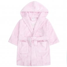 18C443: Infant Girls Sequin Slogan Dressing Gown (2-6 Years)