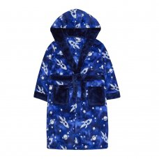 18C506: Older Boys All Over Print Space Dressing Gown (7-13 Years)