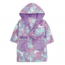 18C507: Infant Girls All Over Print Mystical Dressing Gown (2-6 Years)