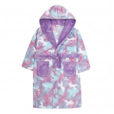 18C508: Older Girls All Over Print Mystical Dressing Gown (7-13 Years)
