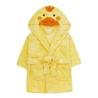 18C631: Baby Novelty Duck Dressing Gown (0-6 Months)