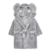 18C511: Baby Novelty Elephant Dressing Gown (6-24 Months)