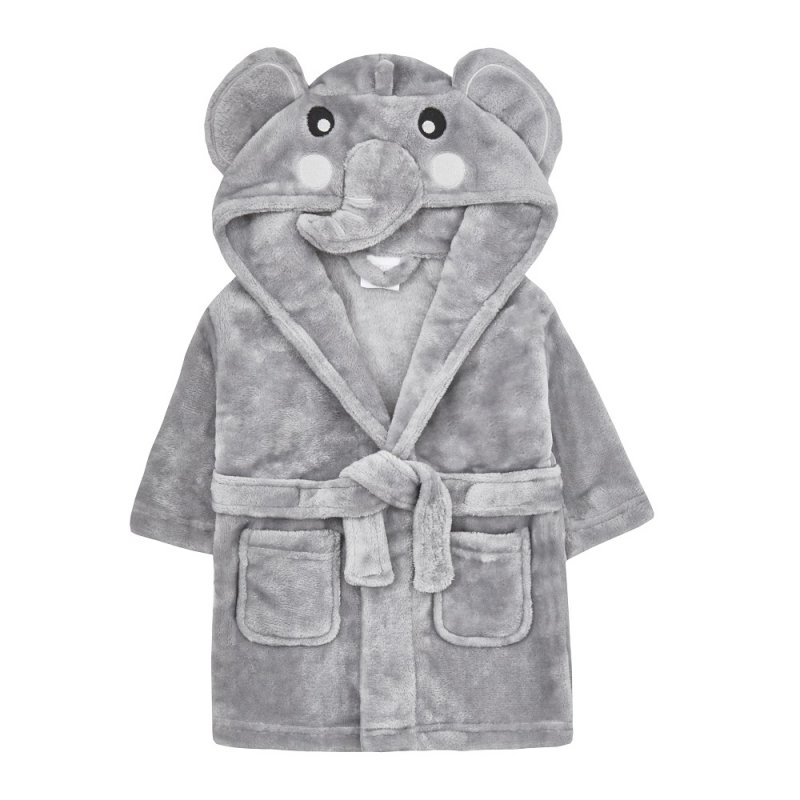 18C632: Baby Novelty Elephant Dressing Gown (0-6 Months)