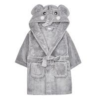 18C513: Infants Novelty Elephant Dressing Gown (2-6 Years)