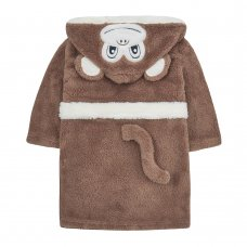 18C519: Infants Novelty Monkey Snuggle Fleece Dressing Gown (2-6 Years)
