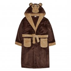 18C520: Older Kids Novelty Monkey Dressing Gown (7-13 Years)