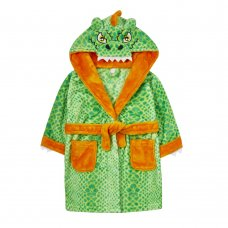 18C523: Infants Novelty Dinosaur Dressing Gown (2-6 Years)