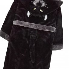 18C526: Older Kids Novelty Panther Dressing Gown (7-10 Years)