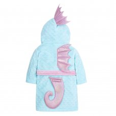18C527: Infant Girls Novelty Seahorse Dressing Gown (2-6 Years)