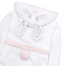 18C532: Older Girls Novelty Bunny Snuggle Fleece Dressing Gown (7-13 Years)