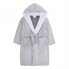18C540: Older Girls Frosted Dressing Gown With Snuggle Trim (7-13 Years)
