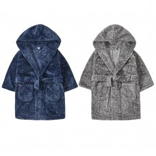 18C543: Infant Boys Faux Marl Dressing Gown (2-6 Years)