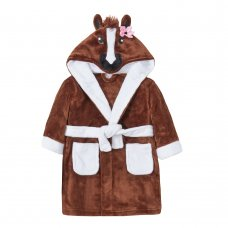 18C556: Infant Girls Novelty Pony Dressing Gown (2-6 Years)