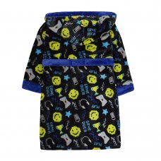 18C566: Older Boys All Over Print Game Over Dressing Gown (7-13 Years)