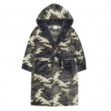 18C569: Older Boys Camo Dressing Gown (7-13 Years)