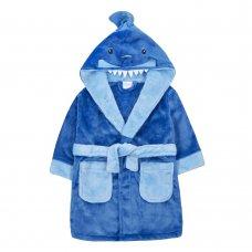 18C572: Infant Boys Novelty Shark Dressing Gown (2-6 Years)