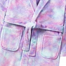 18C577: Older Girls Mystical Glitter Print Dressing Gown (7-13 Years)