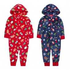 18C580: Infants Christmas All Over Print Onesie (2-6 Years)