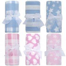 19C195: Baby Soft Fleece Roll Blanket (75 x 75 cm)