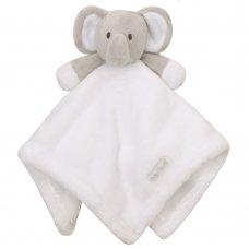19C197: Baby Novelty Elephant Comforter- White
