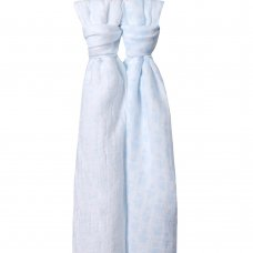 19C204: Baby 2 Pack Muslin Blankets In a Gift Bag- Blue