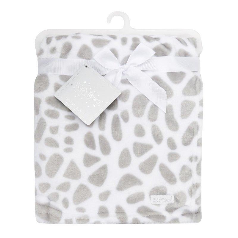 19C213: Baby Giraffe Print Plush Blanket