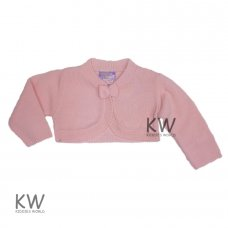 MC2004AP: Knitted Baby Girls Pink Bolero Cardigan (3-9 Months)