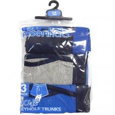 1301001: 3 pack Plain Boys Keyhole Trunks (4-13 Years)