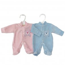 HB03: Premature Baby Velour Sleepsuit