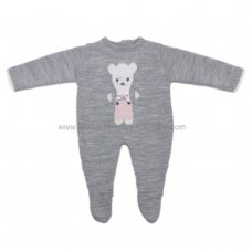 3020P: Baby Girls Teddy Knitted All In One (0-9 Months)